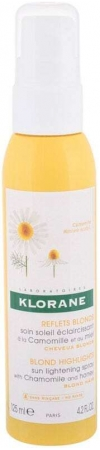 Klorane Chamomile Blond Highlights Sun Lightening Spray Leave-in Hair Care 125ml (Blonde Hair)