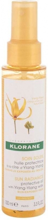 Klorane Ylang-Ylang Wax Sun Radiance Protective Oil Hair Oils and Serum 100ml (All Hair Types)