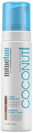 Minetan Coconut Water Self Tan Foam Super Dark Self Tanning Product 200ml