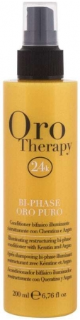 Fanola 24K Oro Puro Bi-Phase Conditioner 200ml (All Hair Types)