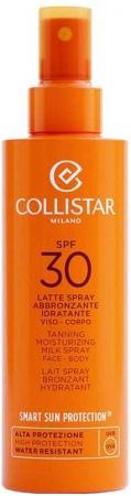 Collistar Smart Sun Protection Tanning Moisturizing Milk Spray SPF30 Sun Body Lotion 200ml (Waterproof)