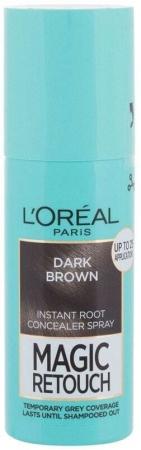 L´oréal Paris Magic Retouch Instant Root Concealer Spray Hair Color Dark Brown 75ml (All Hair Types)