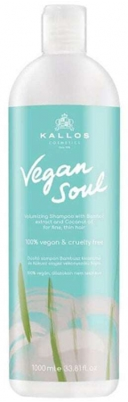 Kallos Cosmetics Vegan Soul Volumizing Shampoo 1000ml (Fine Hair)