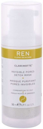 Ren Clean Skincare Clarimatte Invisible Pores Detox Face Mask 50ml (For All Ages)