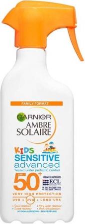 Garnier Ambre Solaire Kids Sensitive Advanced SPF50+ Sun Body Lotion 300ml (Waterproof)