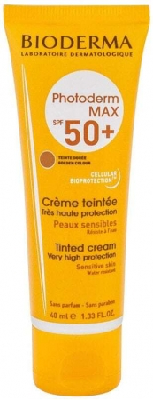 Bioderma Photoderm Max Tinted Cream SPF50+ Face Sun Care Golden Colour 40ml (Waterproof)