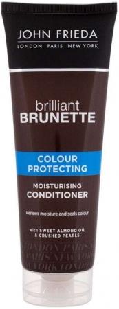 John Frieda Brilliant Brunette Colour Protecting Conditioner 250ml (Colored Hair - Dry Hair)