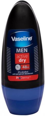 Vaseline Men Active Dry 48h Antiperspirant 50ml (Roll-On - Alcohol Free)