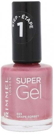 Rimmel London Super Gel STEP1 Nail Polish 023 Grape Sorbet 12ml