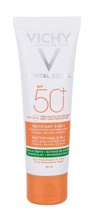 Vichy Capital Soleil Mattifying 3-in-1 SPF50+ Face Sun Care 50ml (Waterproof)