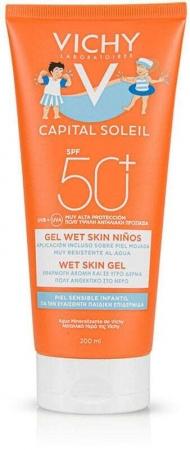 Vichy Capital Soleil Children Wet Skin Gel SPF50+ Sun Body Lotion 200ml (Waterproof)