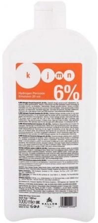 Kallos Cosmetics KJMN Hydrogen Peroxide Emulsion 6% Hair Color 1000ml (Colored Hair)