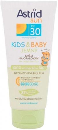 Astrid Sun Kids & Baby Soft Face and Body Cream SPF30 Sun Body Lotion 100ml (Waterproof)