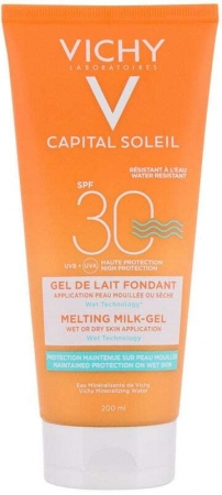Vichy Capital Soleil Melting Milk-Gel SPF30 Sun Body Lotion 200ml (Waterproof)