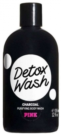 Pink Detox Wash Charcoal Body Wash Shower Gel 355ml