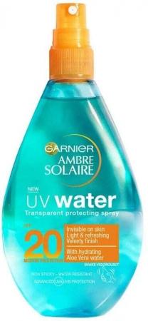 Garnier Ambre Solaire UV Water SPF20 Sun Body Lotion 150ml (Waterproof)
