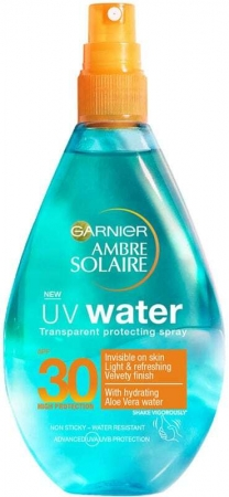 Garnier Ambre Solaire UV Water SPF30 Sun Body Lotion 150ml (Waterproof)