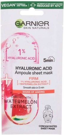 Garnier Skin Naturals Hyaluronic Acid Ampoule Face Mask 1pc (For All Ages)