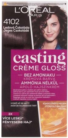 L´oréal Paris Casting Creme Gloss Hair Color 4102 Iced Chocolate 48ml (Colored Hair - All Hair Types)
