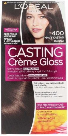 L´oréal Paris Casting Creme Gloss Hair Color 400 Dark Brown 1pc
