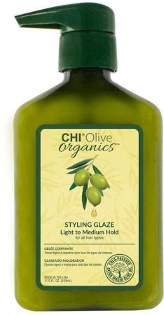 Farouk Systems CHI Olive Organics Styling Glaze Hair Gel 340ml (Medium Fixation)