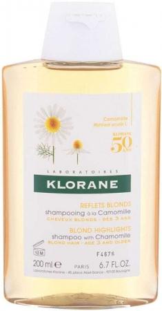 Klorane Chamomile Blond Highlights Shampoo 200ml (Blonde Hair)