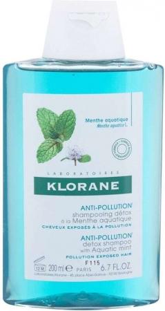 Klorane Aquatic Mint Anti-Pollution Shampoo 200ml (Sensitive Scalp - Dry Hair)