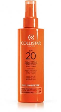 Collistar Smart Sun Protection Tanning Moisturizing Milk Spray SPF20 Sun Body Lotion 200ml (Waterproof)