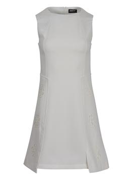 Φόρεμα Αμάνικο με Διάτρητο Σχέδιο