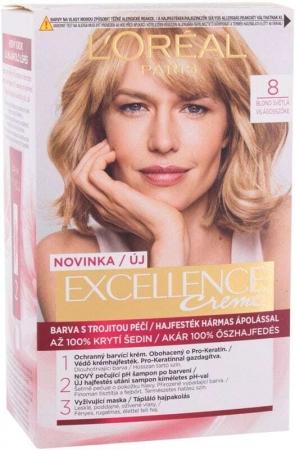 L´oréal Paris Excellence Creme Triple Protection Hair Color 8 Natural Light Blonde 48ml (Blonde Hair - All Hair Types)
