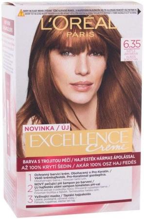 L´oréal Paris Excellence Creme Triple Protection Hair Color 6,35 Light Amber 48ml (All Hair Types)