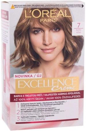 L´oréal Paris Excellence Creme Triple Protection Hair Color 7 Natural Blonde 48ml (All Hair Types)
