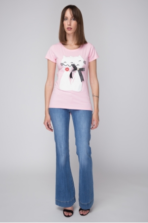 Cats Aplique T-shirt