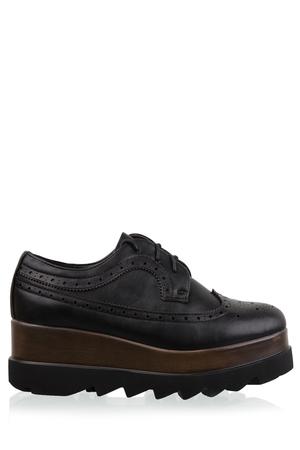 Sneakers Flatform Μαύρο