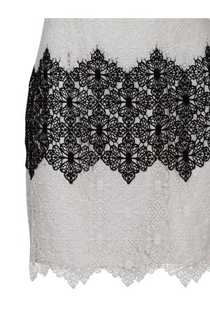 Crochet Ασπρόμαυρο Φόρεμα
