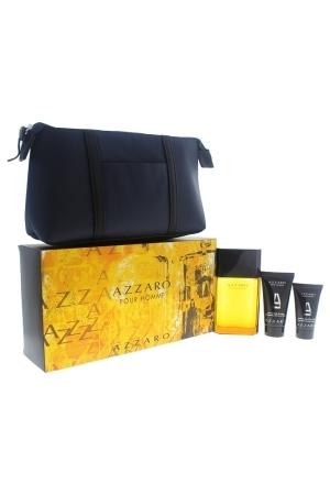 Azzaro Pour Homme Eau De Toilette 4 Pcs Set Eau De Toilette 100ml + Hair Shampoo 50ml + After Shave Balm 30ml + Bag