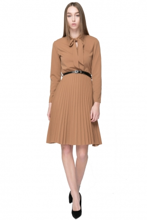 COZY midi Dress With Slim Belt