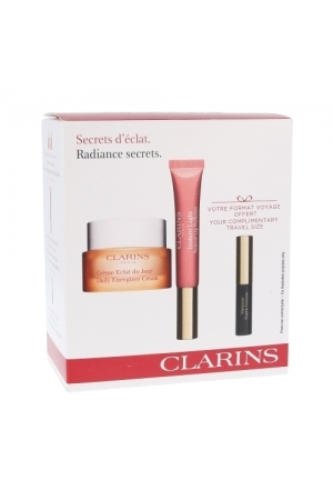 Clarins Daily Energizer Day Cream 30ml Combo: Daily Cream Daily Energizer Cream 30 Ml + Lip Gloss Instant Light Natural Lip Perfector 12 Ml 01 + Mascara Supra Volume 3,5 Ml 01 (Normal - Dry - For All Ages)