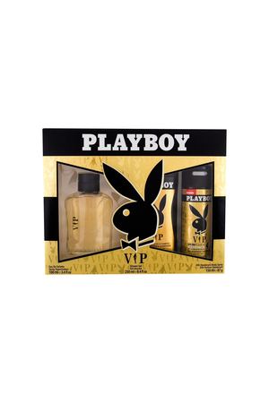 Playboy Vip For Men Darkova Sada Eau De Toilette 100 Ml, Deospray Vip For Men 150 Ml A Sprchovy Gel Vip For Men 250 Ml