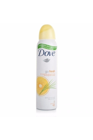 Dove Go Fresh Grapefruit & Lemongrass Antiperspirant 150ml Alcohol Free 48h (Deo Spray)