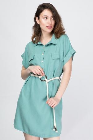 Lyocell Dress With Pockets