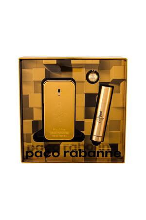 Paco Rabanne 1 Million Eau De Toilette 50ml Combo Edt 50 Ml + Edt 10 Ml + Key Ring