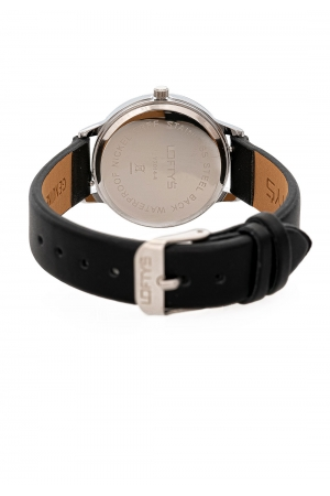 LOFTY'S Cassiopi Crystals Black Leather Strap Y2014-1