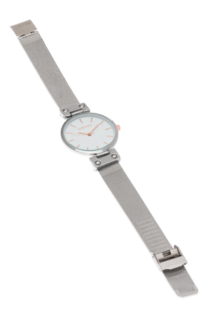 Ρολόι Loftys Kelly με ασημί μπρασελέ και λευκό καντράν Y3409-16