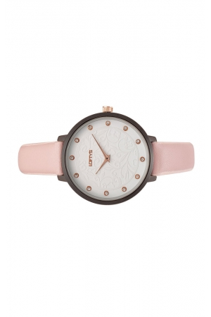 LOFTY'S Rosalinda Crystals Pink Leather Strap