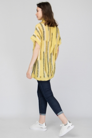 Linen Blouse With Scarf