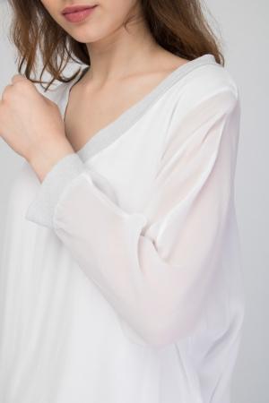 Plunge Wrap Blouse With Lurex Details