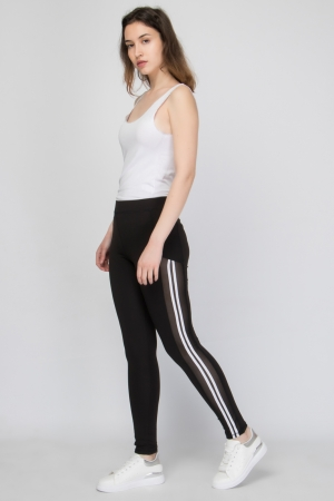 Two Stripe Sport Legging In Black