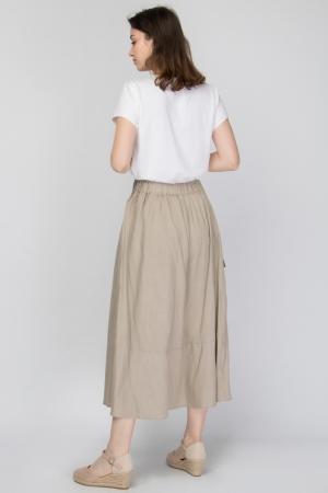 COZY Maxi Skirt in Linen