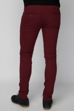 Burgundy Chino Trouser - Skinny Fit